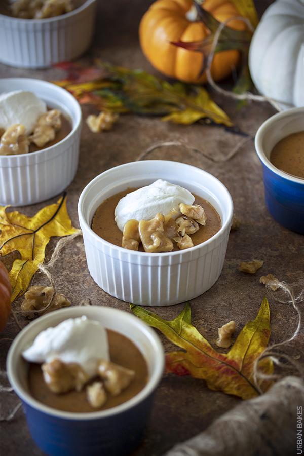 Pumpkin Bourbon Custards with Walnut Brittle | URBAN BAKES