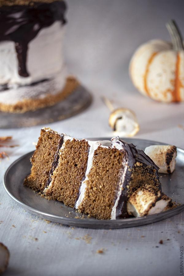 Pumpkin S'mores Cake | URBAN BAKES
