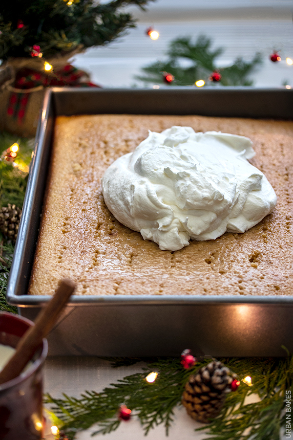 """A Tres Leches Cake with the Sweet Custard-like Flavor of Eggnog will Evoke the Holiday Spirit.  Splash a bit of your favorite rum and you'll have people lining up for """"boozy"""" treat!"""
