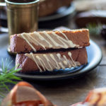 Gingerbread Biscotti with Espresso Glaze and Eggnog Drizzle | URBAN BAKES