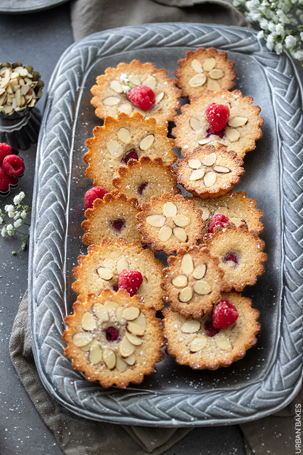 Raspberry and Almond Browned Butter Financiers | URBAN BAKES