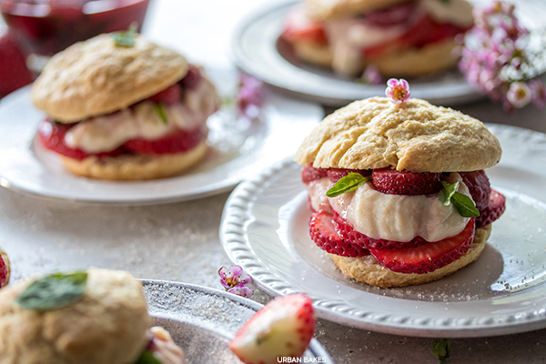 Strawberry Basil Shortcakes with Whipped Ricotta | URBAN BAKES