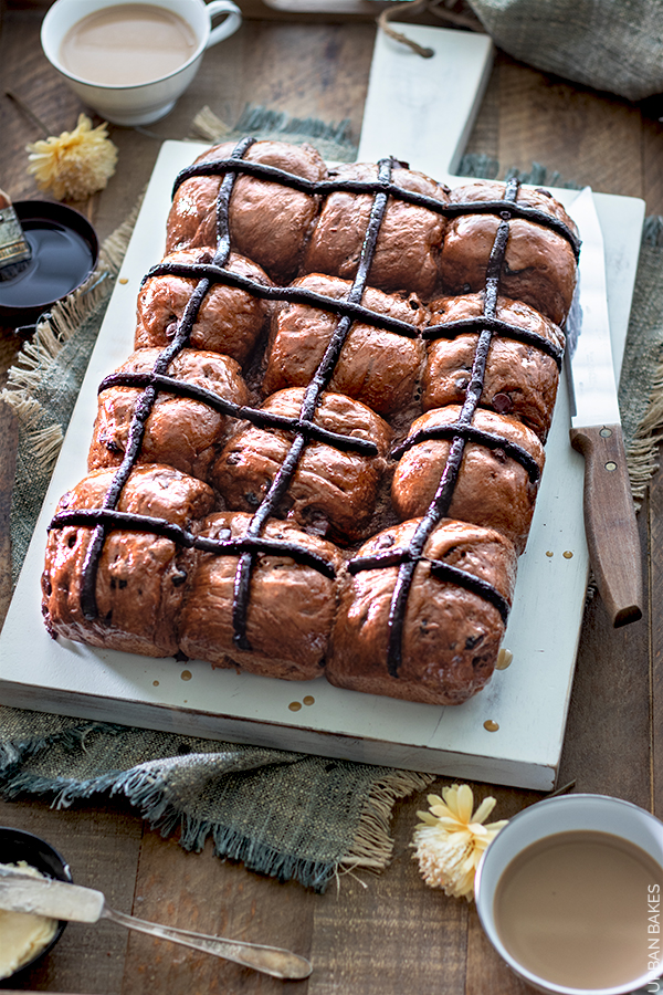 Chocolate Hot Cross Buns | URBAN BAKES