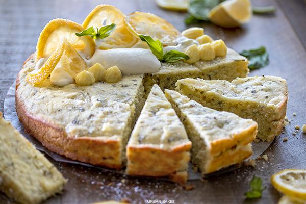 Lemon Basil Olive Oil Cake with Honeyed Ricotta | URBAN BAKES