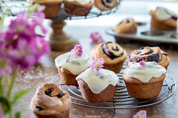 Blueberry Lemon Sweet Rolls | URBAN BAKES