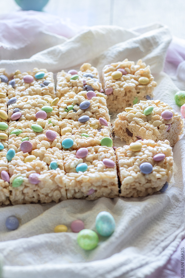 Brown Butter Rice Krispies Treats for Easter | URBAN BAKES