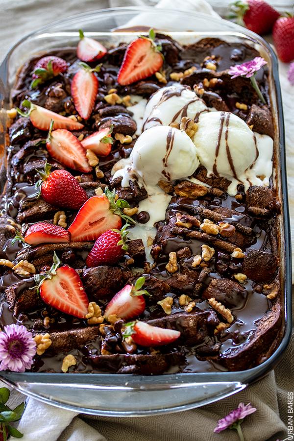 Chocolate Hot Cross Bun Pudding | URBAN BAKES