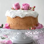 Rose Water Angel Food Cake | URBAN BAKES