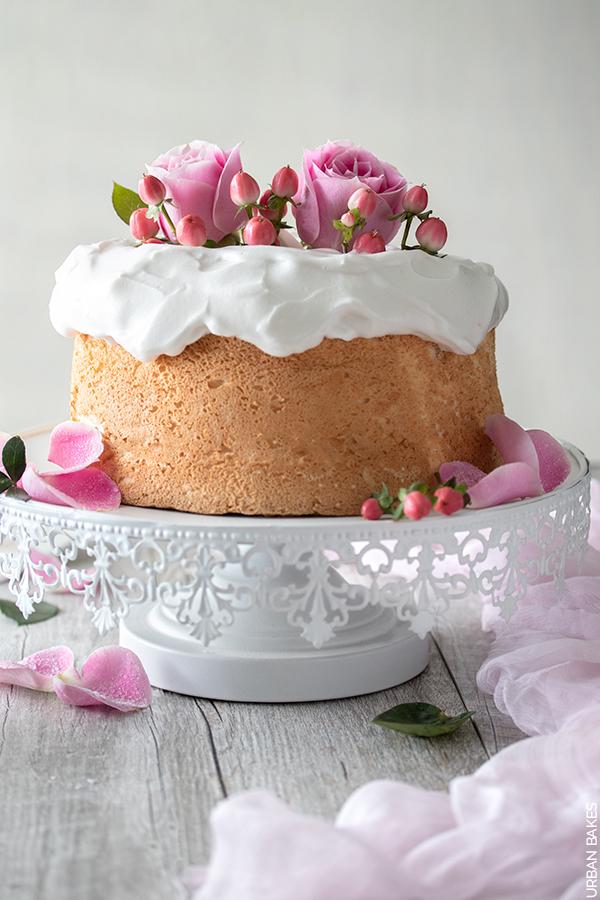 Rose Water Angel Food Cake