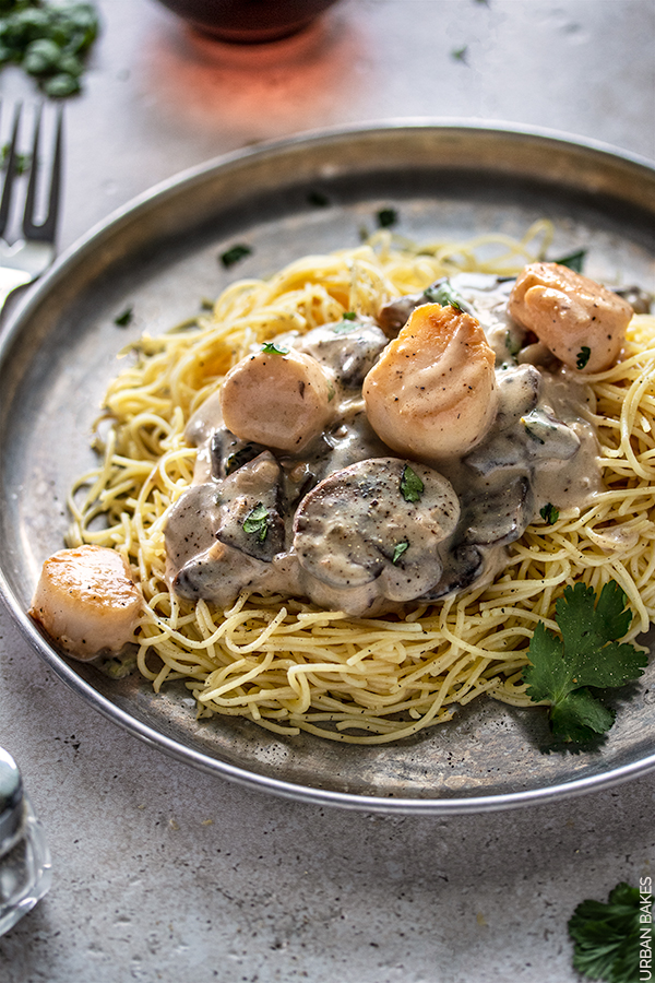 Scallops with Mushroom Sauce | URBAN BAKES