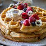 Belgian Waffles with Honey Vanilla Crème Fraîche | URBAN BAKES