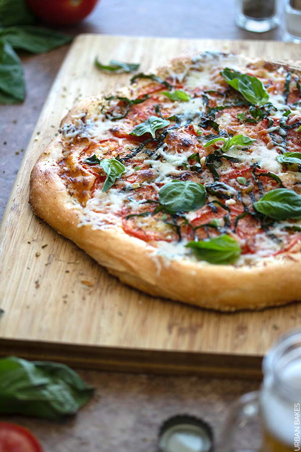 Homemade Pizza with Tomato and Basil | URBAN BAKES