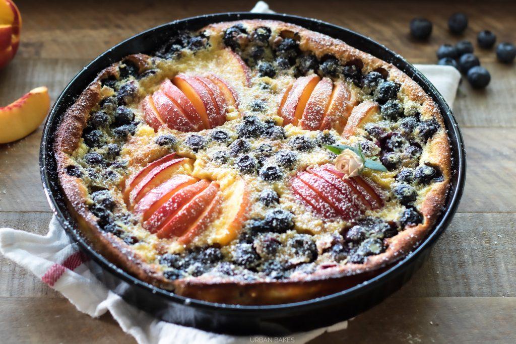 Blueberry Nectarine Clafouti Recipe by URBAN BAKES