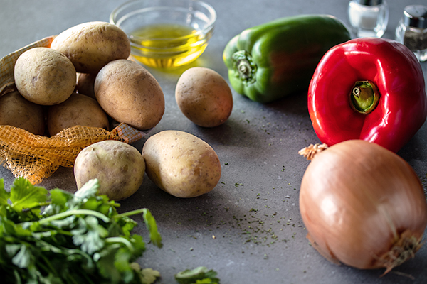 Ingredients for Spanish Style Home Fries by URBAN BAKES