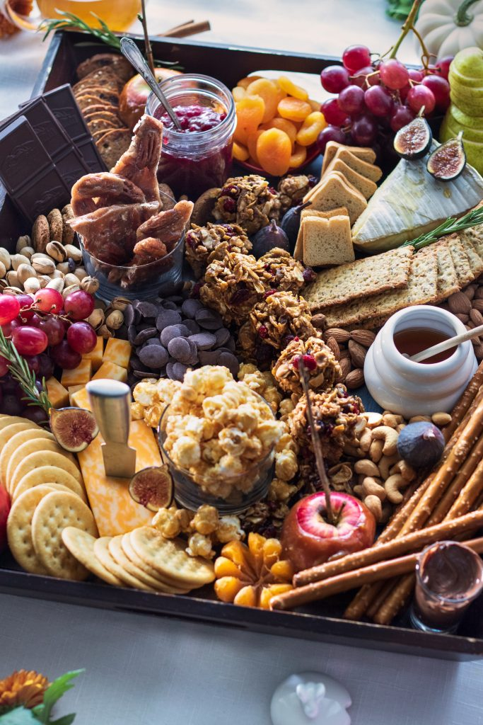 Fall Charcuterie Board with Cranberry Almond Cookie Clusters | URBAN BAKES