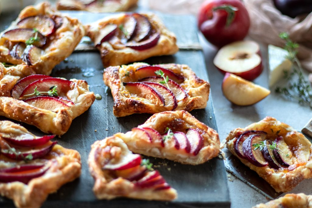 Puff Pastry Plum and Brie Tarts with Mango Chutney   URBAN BAKES