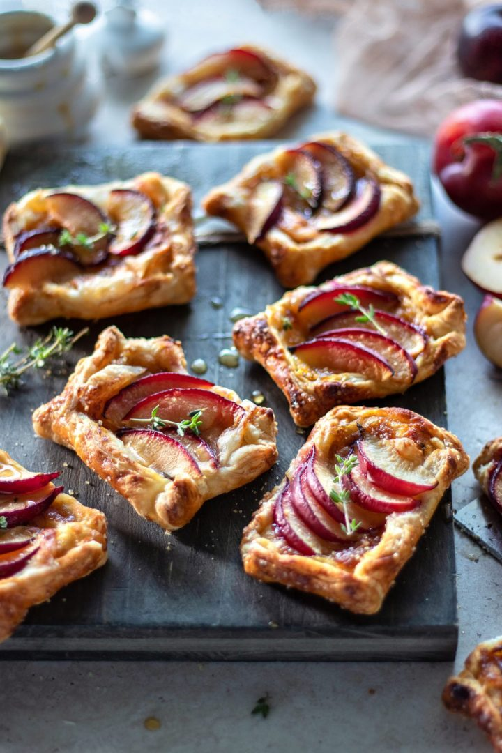 Puff Pastry Plum and Brie Tarts with Mango Chutney